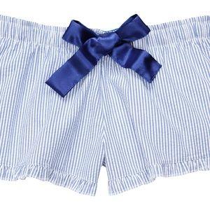 Other - Seersucker PJ Shorts - Blue Stripe